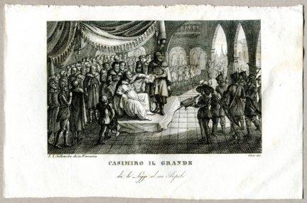 Casimiro Il Grande - miedzioryt 1831