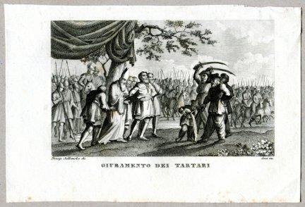 Giuramento Dei Tartari - miedzioryt 1831