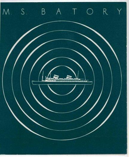 M/S Batory. Menu z rejsu: Morze Bałtyckie, poniedziałek 28 kwietnia 1969