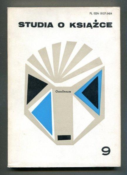 Studia o Książce. [T.] 9: 1979.