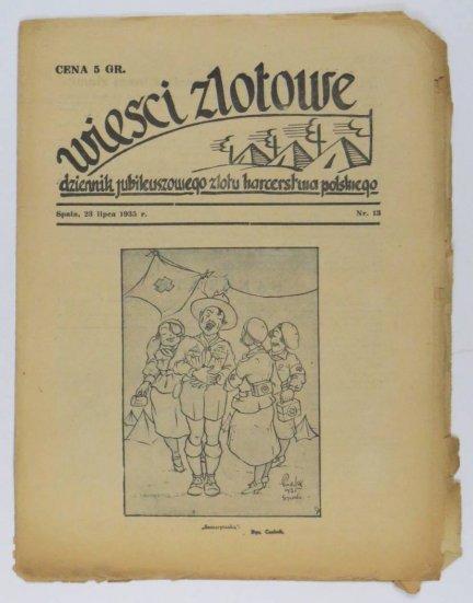 Wieści Zlotowe. Nr 13: 23 VII 1935.