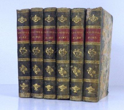 Rime Piacevoli di Gio: Battista Fagiuoli Fiorentino. Parte 1-6. 1734 [W t. 6 Sonet XV poświęcony Odsieczy Wiedeńskiej; Sonet XX poświęcony Janowi III Sobieskiemu]