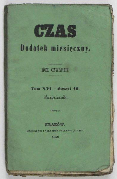 Czas. Dodatek miesięczny. R. 4, T. 16, z. 46: X 1859.