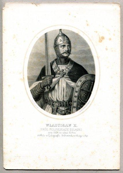 Władysław II. - Król Polski, Xiąże Szląski - litografia. [Rys. Aleksander Lesser. Litografował H.Aschenbrenner]
