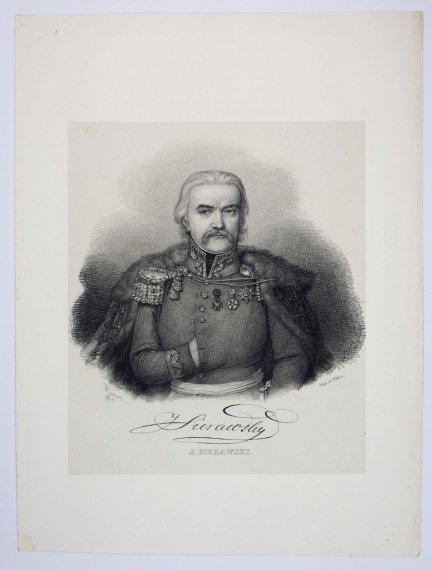 [POWSTANIE LISTOPADOWE] J. Sierawski - portret - litografia [1832]