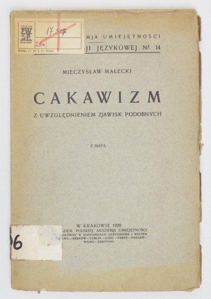 Małecki Mieczysław - Cakawizm z uwzględnieniem zjawisk podobnych