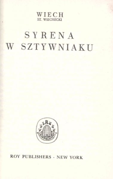 Wiechecki Stefan - Syrena w sztywniaku