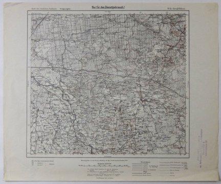 O15. Gross Ekkau - mapa 1:100 000 [Karte des westlichen Russlands]