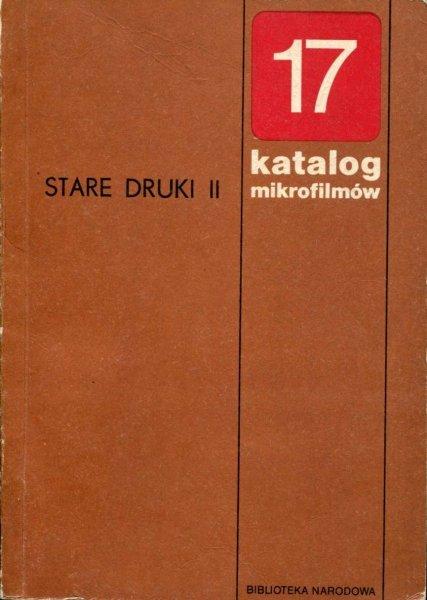 Spandowski Michał - Stare druki, [cz.] 2. Katalog mikrofilmów