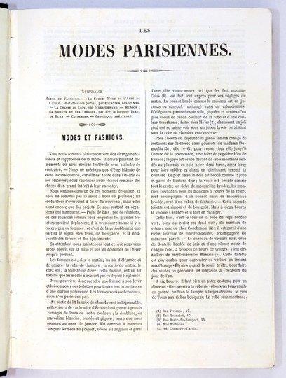 Les MODES Parisiennes. R. 1852. Rocznik paryskiego tygodnika poświęconego modzie