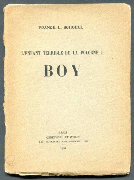 Schoell Franck L. - L'Enfant Terrible de la Pologne: Boy