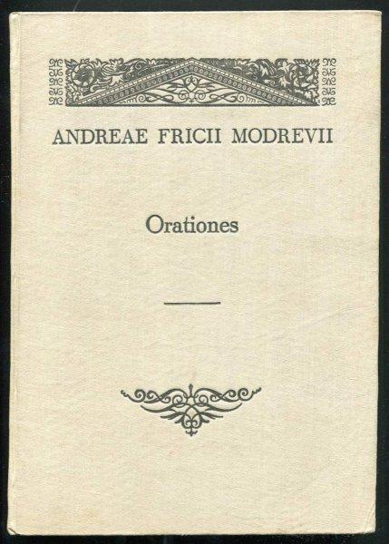 Modrzewski Andrzej Frycz. Modrevii Andreae Fricii - Orationes.