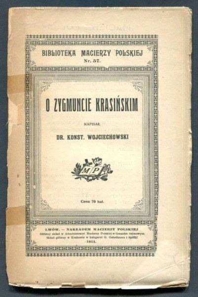 Wojciechowski Konstanty - O Zygmuncie Krasińskim