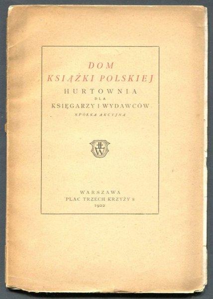Dom Książki Polskiej. Hurtownia dla księgarzy i wydawców.