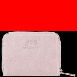 Portfel Skórzany VITTORIA GOTTI Made in Italy Pudrowy Róż