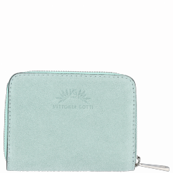 Portfel Skórzany VITTORIA GOTTI Made in Italy Mięta