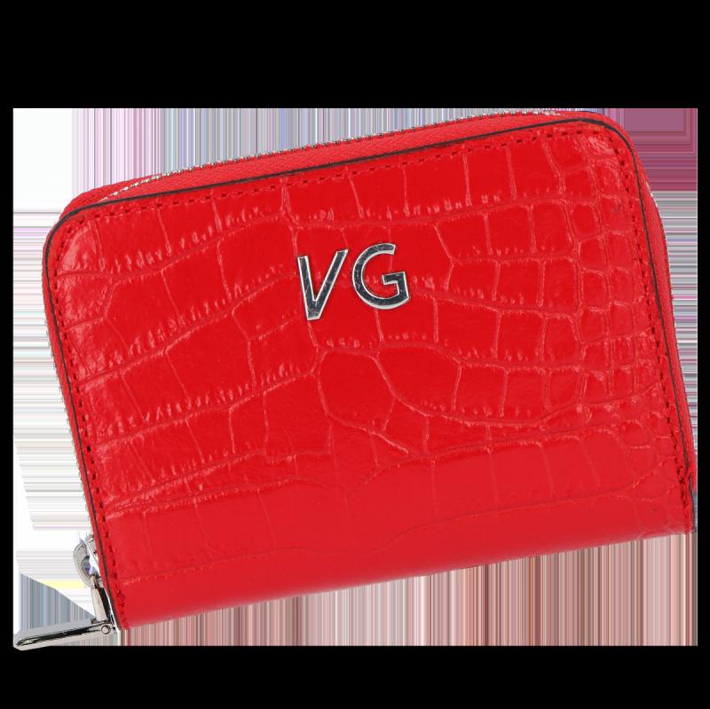 Skórzany Portfel Damski VITTORIA GOTTI Made in Italy Czerwony