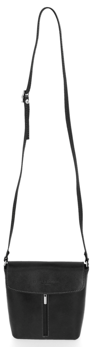 Listonoszka Skórzana VITTORIA GOTTI Made in Italy Czarna