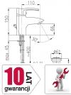 ARMATURA KRAKÓW - KWARC umywalkowa stojąca 4202-815-00