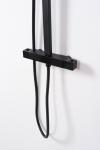 REA - Zestaw natryskowy z baterią termostatyczną JET BLACK MATT czarny matowy
