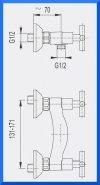 ARMATURA KRAKÓW - SYMETRIC bateria natryskowa ścienna 346-010-00