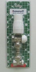 ARMATURA KRAKÓW - Pakiet termostatyczny grzejnikowy kątowy KFA 757-100-07-BL