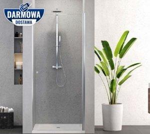 NEW TRENDY - Drzwi prysznicowe wnękowe uchylne 80cm D-0330A SUPERIA