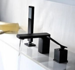 REA - Bateria wannowa 3-otworowa SONIC BLACK