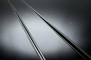 AQUALine - Odpływ liniowy szklany NEMO Szkło hartowane Czarne Różne rozmiary 50-100cm C17BK