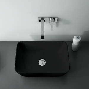 ELITA - Umywalka ceramiczna nablatowa RENI 46 BLACK MAT/CZARNA MATOWA 145058