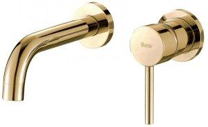 REA - Bateria umywalkowa podtynkowa LUNGO Rose Gold