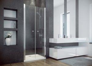 BESCO - Drzwi prysznicowe podwójne wahadłowe otwierane SINCO DUE 195