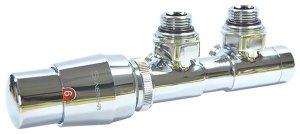 Sunerzha - Zawór termostatyczny z podłączeniem 50mm CHROM lewy