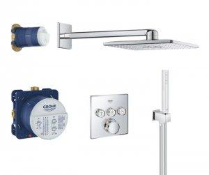 GROHE Zestaw prysznicowy podtynkowy z baterią termostatyczną Grohtherm SmartControl 34706000