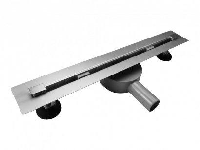 AQUALine - Odpływ liniowy podłogowy SLIM INVISIBLE chrom Obrotowy syfon ROZMIARY 50-120cm RSP01