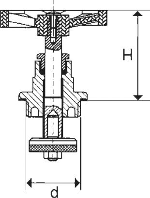 ARMATURA KRAKÓW -głowica do zaworów żeliwnych   881-410-20