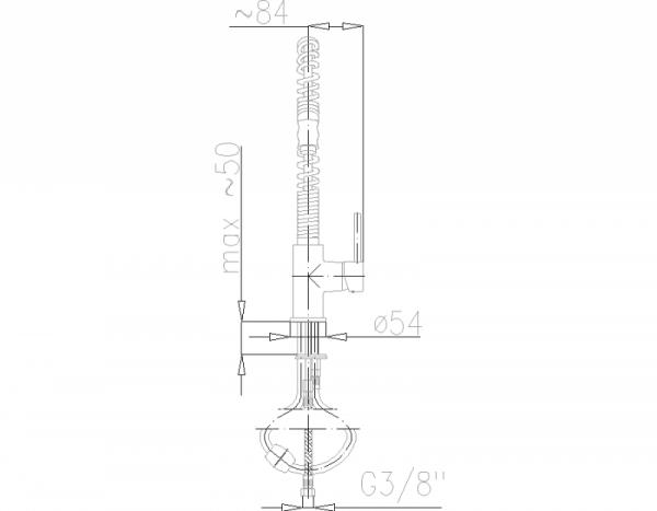 ARMATURA KRAKÓW - SIGMA Bateria zlewozmywakowa stojąca 6603-110-00