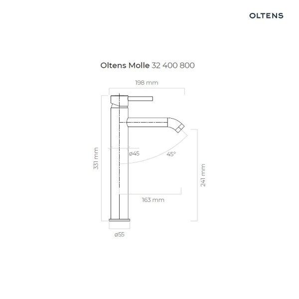 OLTENS Bateria umywalkowa wysoka MOLLE złota/gold 32400800