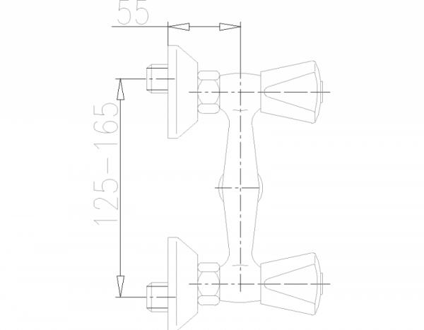 ARMATURA KRAKÓW - Ceramik Bateria dwuuchwytowa, natryskowa 336-310-00