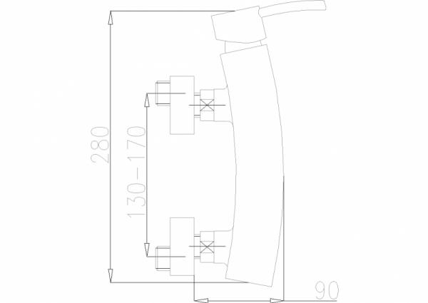 ARMATURA KRAKÓW - Diament Bateria natryskowa ścienna 4106-010-00
