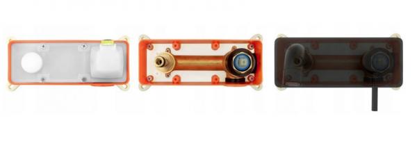 REA - Bateria umywalkowa podtynkowa VIVA czarna + box BLACK
