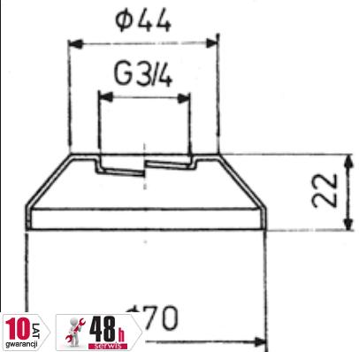 ARMATURA KRAKÓW - Rozeta stożkowa 3/4do baterii 974-101-00