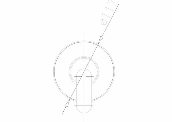 ARMATURA KRAKÓW - Cyrkon Bateria natryskowa podtynkowa 589-610-00