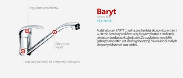 ARMATURA KRAKÓW - BARYT bateria bidetowa 557-015-00