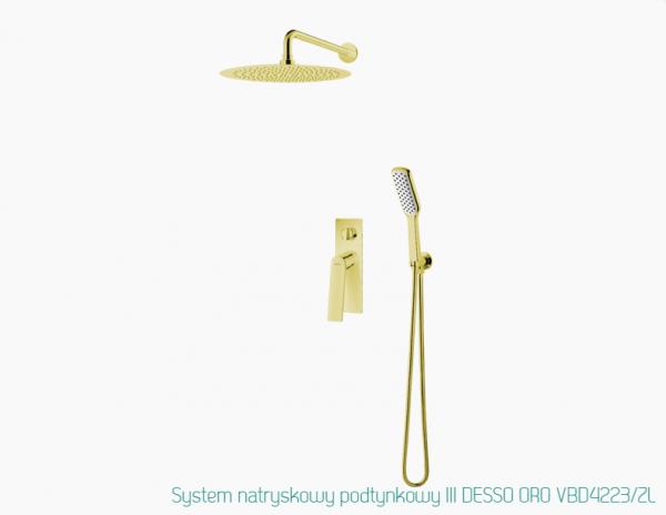 VEDO Zestaw prysznicowy podtynkowy złoty III DESSO ORO VBD4223/ZL/250