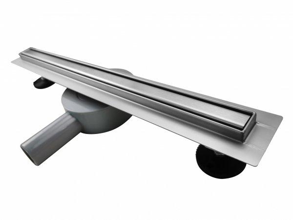AQUALine - Odpływ liniowy podłogowy SLIM kwadrat chrom Obrotowy syfon ROZMIARY od 50 do120cm RSK01