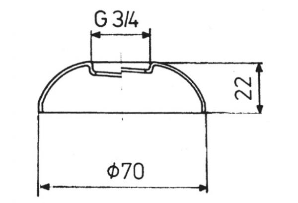 ARMATURA KRAKÓW - Rozeta kulista 3/4 do baterii 974-161-00