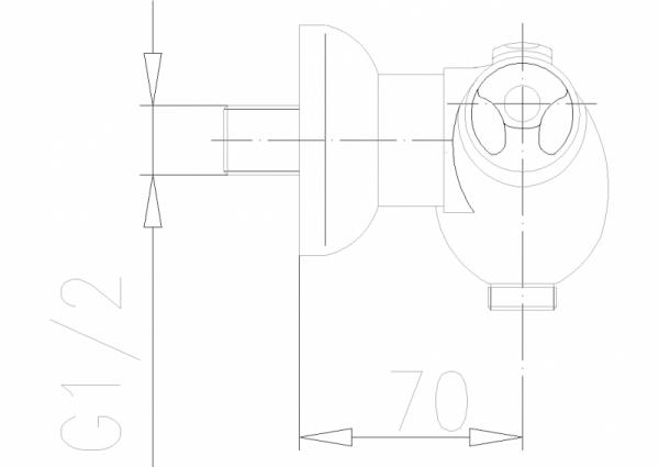 ARMATURA KRAKÓW - Exclusive Bateria natryskowa ścinna termostatyczna  576-011-00
