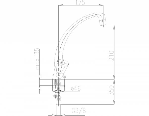 ARMATURA KRAKÓW - Ceramik Bateria dwuuchwytowa, zlewozmywakowa  333-915-00