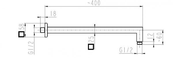 ARMATURA KRAKÓW - Zestaw natryskowy podtynkowy HEXA 1